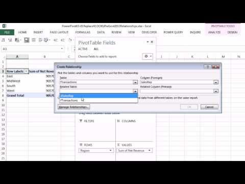 Excel 2013 PowerPivot Basics #03: Replace VLOOKUP with Excel 2013 Data Model & Relationships