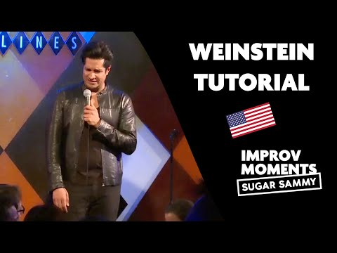 Weinstein tutorial at a Comedy show - Sugar Sammy