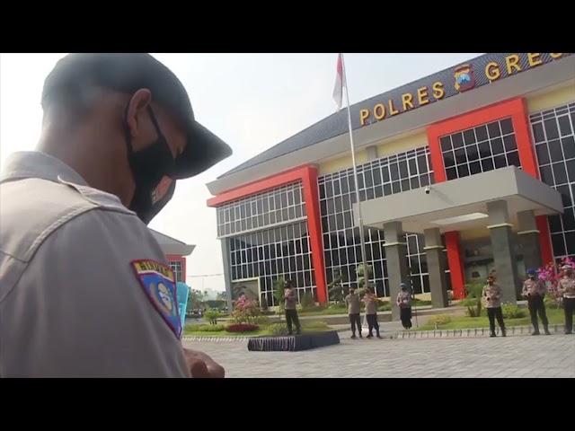 Anggota Polres Gresik Laksanakan Apel Siaga Dalam Rangka May Day 2021