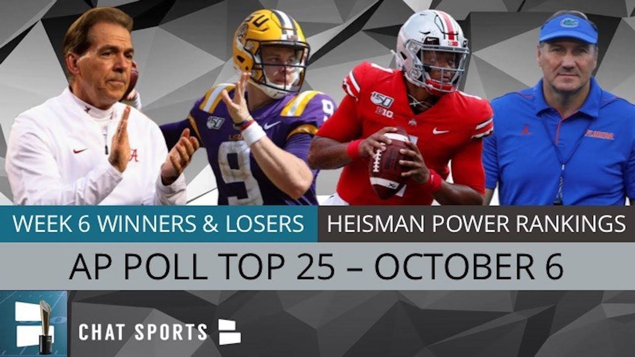 College football Power Rankings for Week 7