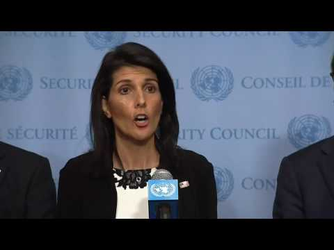 UN Ambassador Haley Makes Statement on North Korea 3/8/17