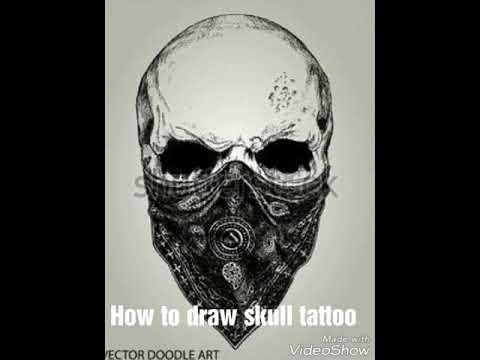 How To Draw Skull Tattoo Youtube