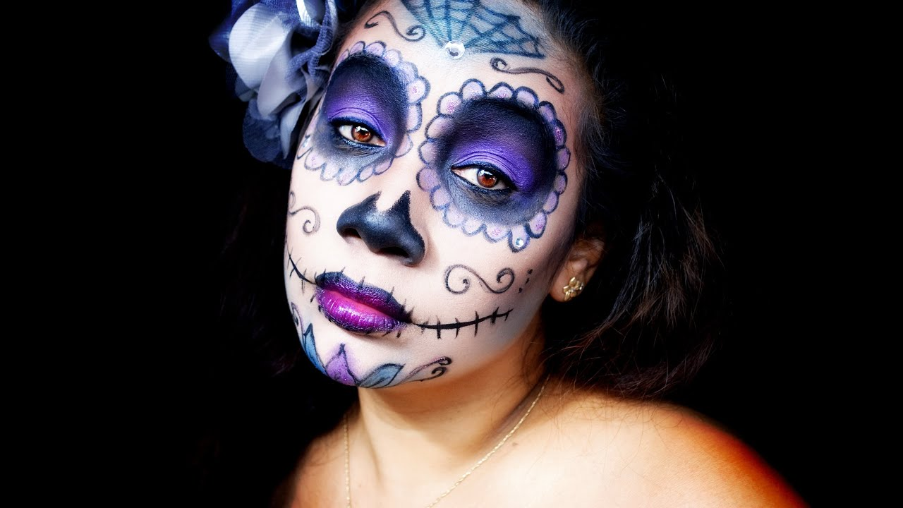 Sugar Skull Makeup Tutorial - Dia de los Muertos Day of the Dead ...