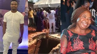 SO SAD! COMEDIAN FUNNYBONE IN TEARS AS HE BURIES HIS MOTHER TODAY IN ANAMBRA STATE