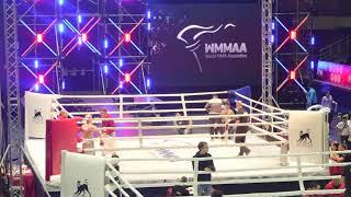 56,7 kg: Umedulo Urfonov (Tajikistan) vs. Andrei Kalechitis (Belarus). 2017 World MMA Championships