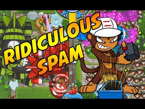 RIDICULOUS SPAM In The Moab Pit - Bloons TD Battles