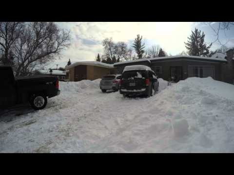 Post record snow fall shoveling in Ottawa time lapse