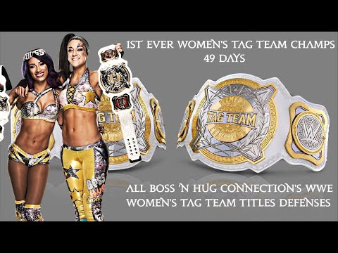 All Boss And Hug Connection's Women's Tag Team Titles Defenses