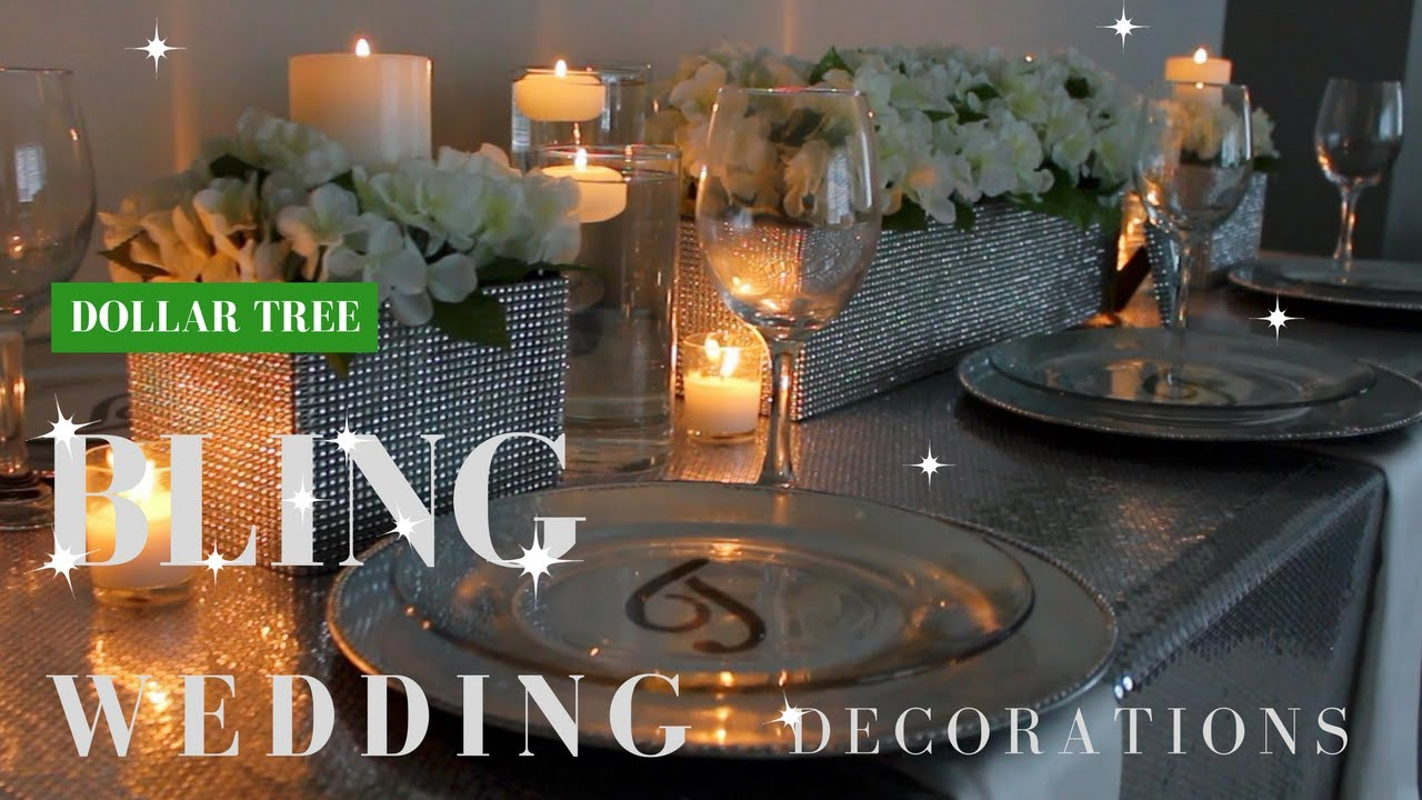 Diy wedding decorations dollar tree bling centerpiece youtube diy wedding decorations dollar tree bling centerpiece junglespirit Image collections