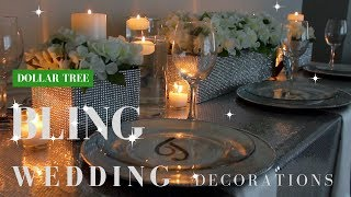 DIY Wedding Decorations | Dollar Tree Bling Centerpiece