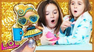 ULTRA RARE LOL surprise DOLL! LUXE 24K GOLD  - I SURPRISED MY SISTERS! Series 2