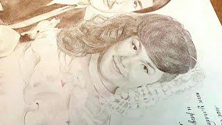 Как нарисовать портрет. ПОЛНОСТЬЮ с нуля. Рисуем поэтапно карандашом.
