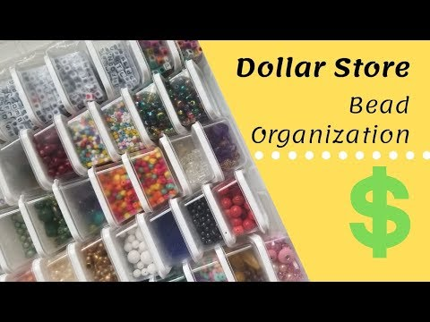 Bead Storage From Dollar Tree