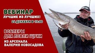 Вебинар Валерия Новосадова. Воблеры для ловли щуки..