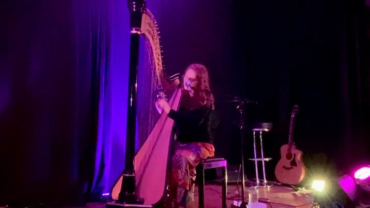 Where the sky ends (Mariele harp and voice original) live