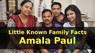Little Known Family Facts Amala Paul