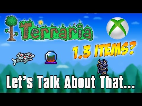 Terraria 1.3 Items in Xbox & Playstation? Let's talk about that...