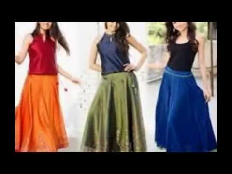 Crop top and Skirt 2017 Designs - YouTube