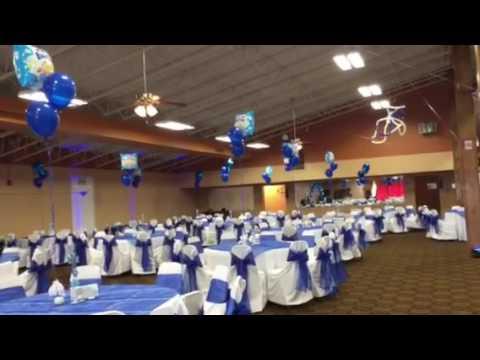 decoracion de salon para bautizo en color royal blue youtube