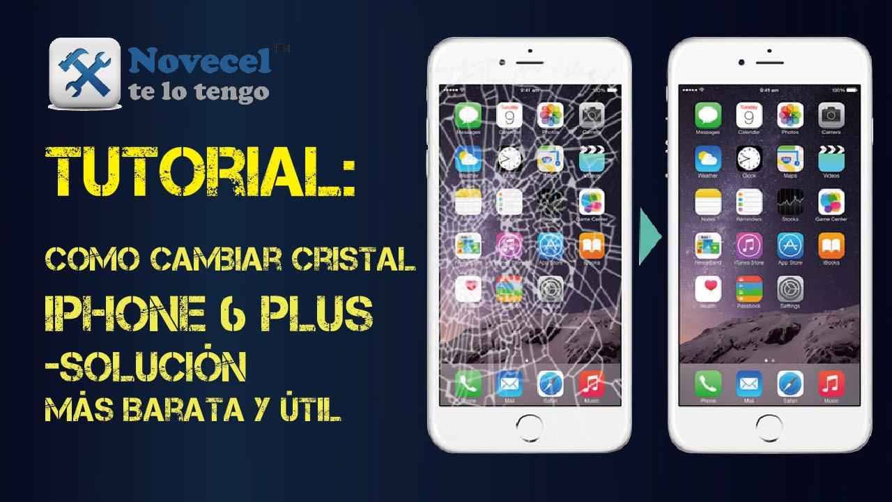 c32c5b1e05b Tutorial:Como cambiar cristal iphone 6 plus-solución más barata y útil