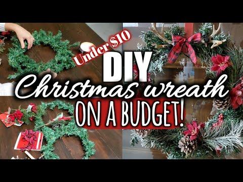 DIY Christmas wreath || Christmas decor on a budget!