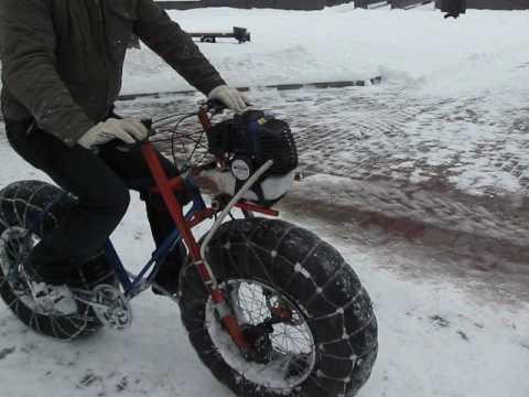 Что это за аппарат ?  по снегу пневмоход вело мото гибрид  72 сайт Воир-Ростов