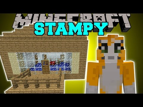 Minecraft: STAMPYLONGHEAD MOD (LOVELY HOUSE, IBALLISTICSQUID, & ROCKET!) Mod Showcase