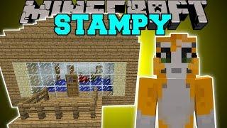 Minecraft: STAMPYLONGHEAD MOD (LOVELY HOUSE, IBALLISTICSQUID, & ROCKET!) Mod Showcase