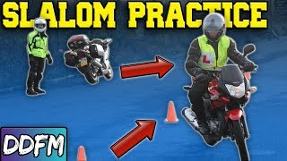 Learn To Swerve On A Motorcycle / CBT Module 1 Slalom Test Technique