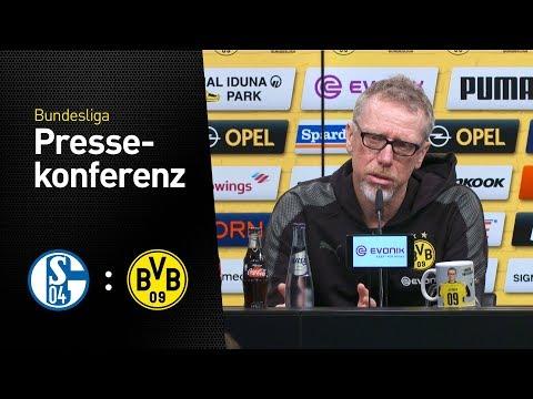 Pressekonferenz zum 152. Revierderby mit Peter Stöger | FC Schalke - BVB