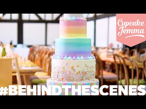 An AMAZING WEDDING CAKE From Start To Finish | Behind The Scenes | Cupcake Jemma