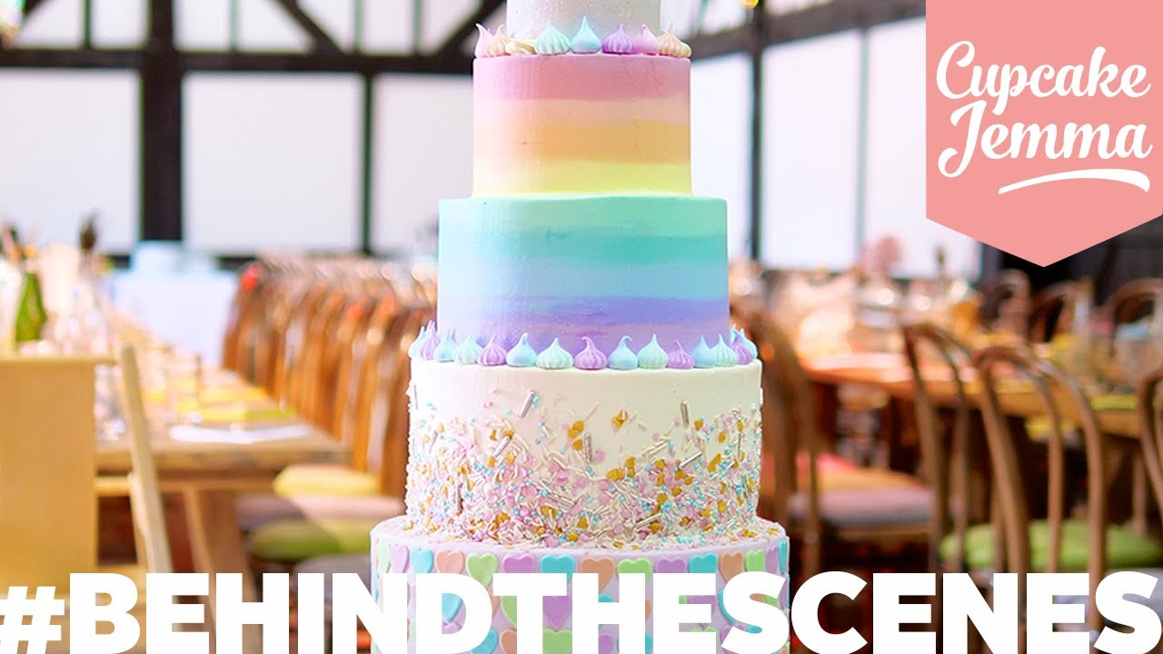 An Amazing Wedding Cake From Start To Finish Behind The Scenes Cupcake Jemma Youtube