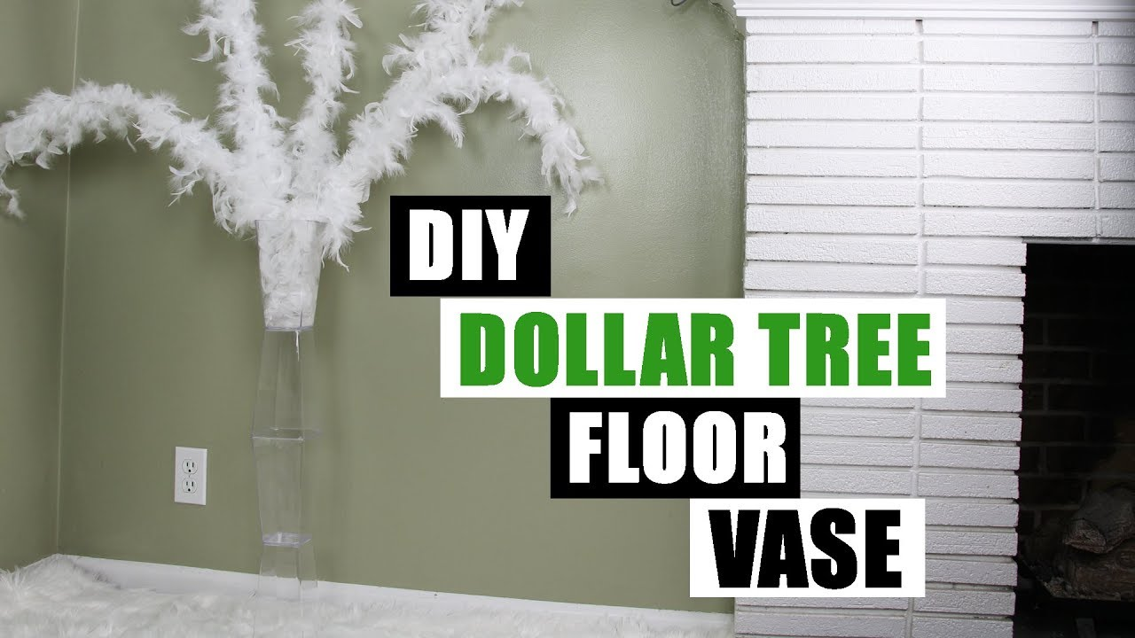Diy dollar tree floor vase dollar store diy floor vase diy glam home decor youtube - Dollar store home decor ideas pict ...