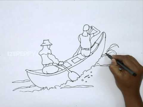 How To Draw Canoeing