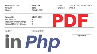 How to make PDF Invoice in PHP using FPDF library