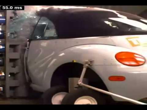 Crash Test 2003 2005 Volkswagen Beetle Convertible (Impolite).mpg