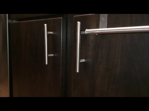 & How To Install Kitchen Cabinet Door Handles - YouTube