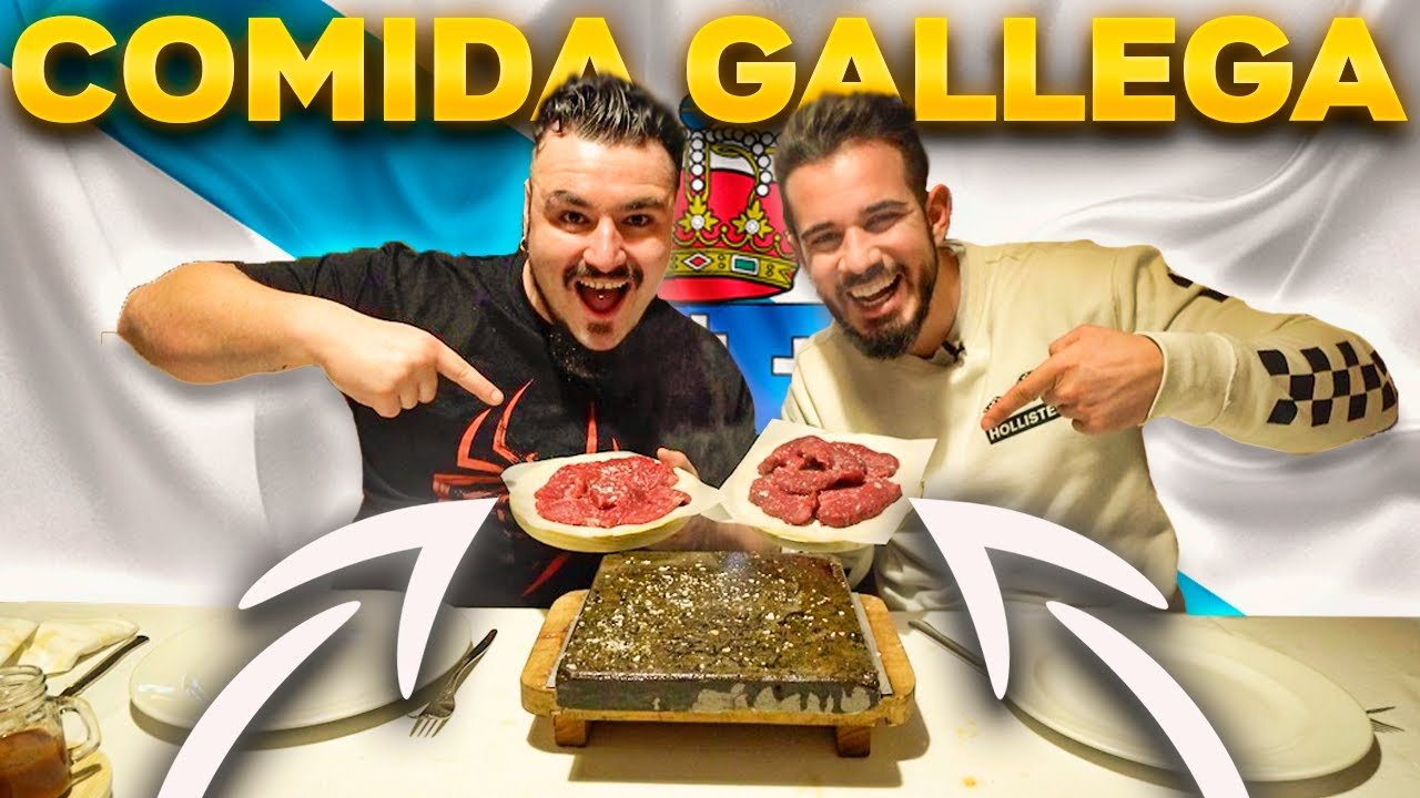 Probando COMIDA TÍPICA GALLEGA con Cenando con Pablo 🥩