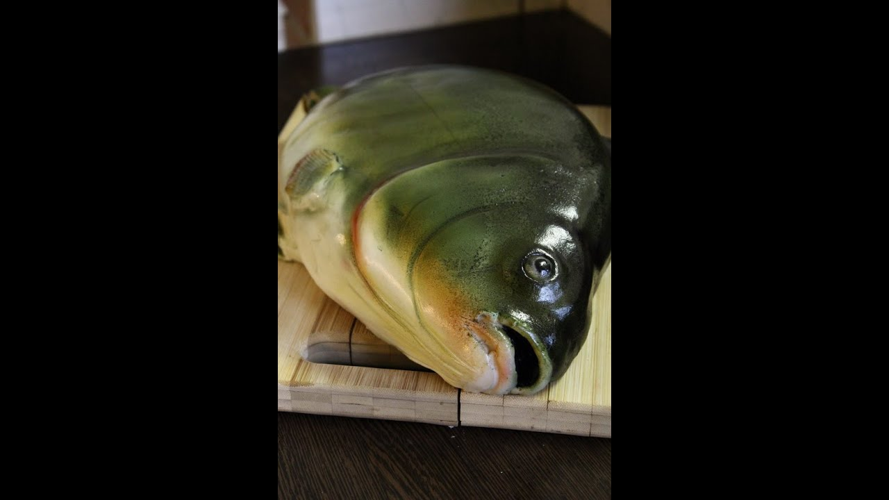 Kricky cake decorating realistic airbrushed fish cake for Fish cake design