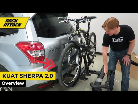Kuat Sherpa 2.0 Platform Hitch Mount Bike Rack Assembly, Install and Overview