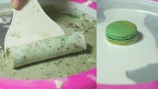 figcaption 마카롱 철판 아이스크림 만들기 | 한세