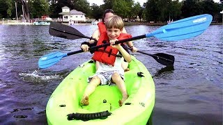 SuperTwins Travel TV - Mini Kayak Trip and Paddling Lesson