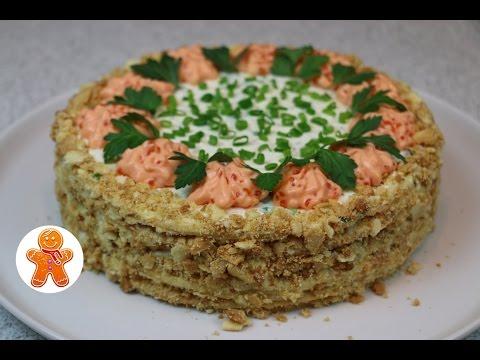 Закусочный торт Наполеон новогодний рецепт