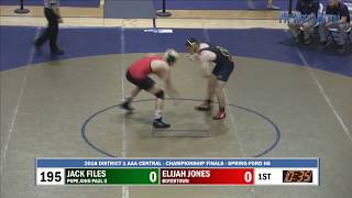 2018-02-24 195 lbs Elijah Jones (Boyertown) vs Jack Files (Pope John Paul II)