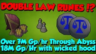 Download Video Double Law Runecrafting!? 7-18M Gp/hr! [Runescape 3] High-Level Money Making! MP3 3GP MP4