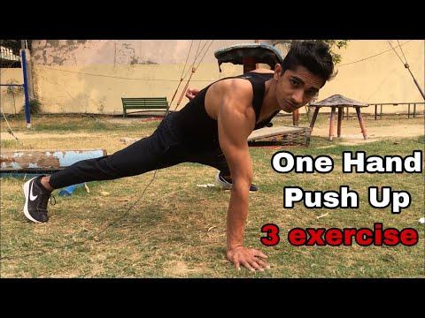 One Hand Pushup Tutorial in Hindi | one Arm Push Up Tutorial | One Arm Push up thumbnail