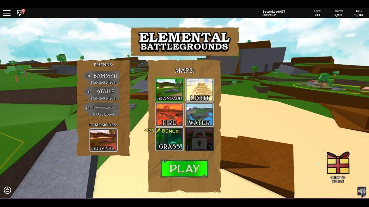 Updates Elemental Battlegrounds Roblox