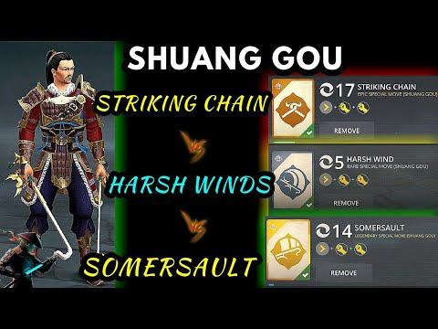 Shadow Fight 3》HARSH WINDS vs SOMERSAULT vs STRIKING CHAIN