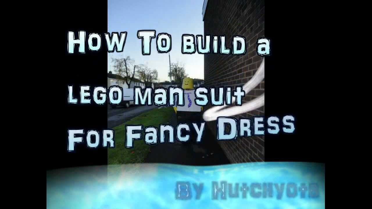 sc 1 st  YouTube & How to-Make a Lego Man Costume - YouTube