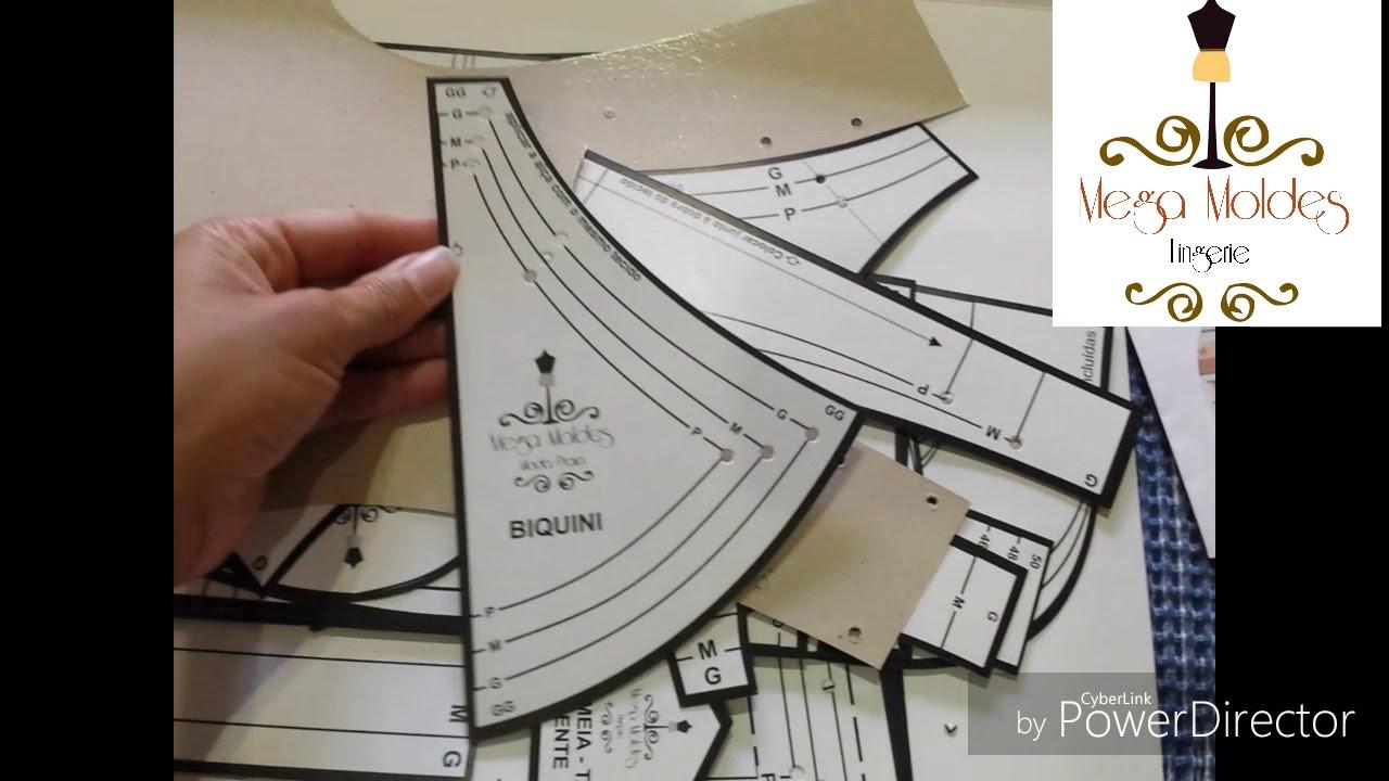 Mega Moldes Kit Modelagem Lingerie Praia Youtube